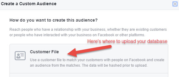 uploading a facebook custom audience